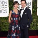 Benedict Cumberbatch and Sophie Hunter at the 72nd Annual Golden Globe Awards at the Beverley Hilton Hotel in Beverly Hills - 395 x 594