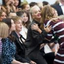 Nancy Shevell; Paul McCartney; Rita Ora and Stella McCartney attend the Hunter Original show during London Fashion Week Spring Summer 2015 at on September 13, 2014 in London, England.