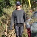 Ashley Tisdale: hike with husband Christopher French in the hills outside of Los Angeles