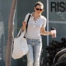 Jessica Biel Leaving Rise Movement Studio - May 13 2010