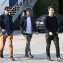 Joe & Kevin Jonas meet some friends for lunch in Los Angeles, California on January 9, 2015 - 454 x 355