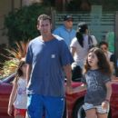 Adam Sandler takes his daughters Sunny and Sadie to breakfast in Malibu, California on September 07, 2015 - 404 x 600