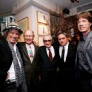 Keith Richards, Variety editor Peter Bart, Martin Scorsese, CEO of Paramount Pictures Brad Grey, and Mick Jagger at the Daily Variety Gotham's 10th Anniversary party on March 30, 2008, at Michael's in New York City