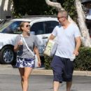 Reese Witherspoon is seen going to the market with husband Jim Toth in Los Angeles, California on June 19, 2016 - 454 x 599