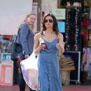 Jenna Dewan in Blue Dress – Shopping in LA