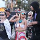 Paris Hilton:  at Coachella slowly but surely converged at the Empire Polo Club concert grounds in Indio