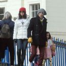 Ronnie Wood, 73, steps out with wife Sally, 43, and their daughters - April 2021 - 454 x 533