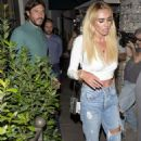 Petra Ecclestone at Madeo restaurant in Beverly Hills - 454 x 727