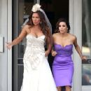 "Vanessa Williams and Eva Longoria: film a wedding scene for an upcoming episode of ""Desperate Housewives"""