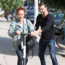 Kendra Wilkinson rides a scooter in West Hollywood - 454 x 681