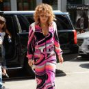 Rita Ora in pink outfit in NYC