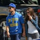Taylor Lautner out with Marie Avgeropoulous in New York City (August 3)