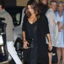 Eva Longoria in Long Black Dress at Nobu in Malibu - 454 x 681