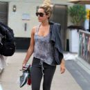 Ashley Tisdale: leaves the gym in West Hollywood