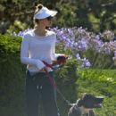 Heather Graham – With Her Dog out in Malibu - 454 x 681