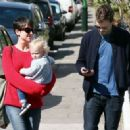Amelia Warner and Jamie Dornan out in London (April 7, 2015) - 454 x 328