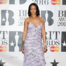 Rihanna attends the BRIT Awards 2016 at The O2 Arena on February 24, 2016 in London, England