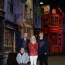Tom Felton, Rupert Grint, and Evanna Lynch attended a photo call and press conference for the opening of Warner Bros. Studio Tour London – The Making Of Harry Potter at Leavesden Studios, March 29 - 428 x 594
