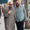 Tilda Swinton and Sandro Kopp are spotted out for a stroll in New York City, New York on March 31, 2016 - 384 x 600