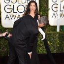 George Clooney and Amal Alamuddin: 72nd Annual Golden Globe Awards 2015