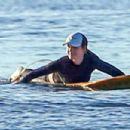 Helen Hunt Surfs In Maui
