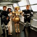 Bill Pullman, Daphne Zuniga, Lorene Yarnell and John Candy in Spaceballs (1987)