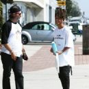 Jaden Smith is spotted shopping on Melrose in Los Angeles, California with a friend on October 14, 2016 - 454 x 566