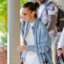 Bella Hadid – Seen while preparing to leave St Barts