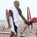 Georges St-Pierre enjoys a relaxing beach day in Miami, Florida on October 15, 2016 - 429 x 600