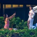 Eva Longoria – In pink swimsuit on her vacay in Cabo San Lucas - 454 x 302