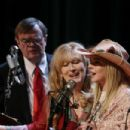 Garrison Kiellor, Meryl Streep and Lindsay Lohan in A Prairie Home Companion Photo by Melinda Sue Gordon