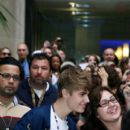 Justin Bieber is greeted by a frenzy of fans outside the NBC Today Show NY June 23, 2011