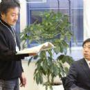 Kiyoshi Kurosawa and Teruyuki Kagawa in Tokyo Sonata. - 454 x 303
