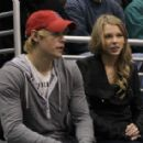Taylor Swift and Chord Overstreet were spotted at the Minnesota Wild vs. the Los Angeles Kings hockey game in Los Angeles (February 24)