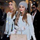 Ariana Grande is seen upon arrival at Narita International Airport in Chiba, Japan