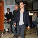 Taylor Lautner arriving at LAX to catch a flight to Indianapolis on Feb. 1