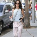 'The Mentalist' actress Robin Tunney is spotted out walking her dog in Beverly Hills, California on August 18. 2015 - 420 x 600