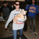 Ashley Greene with her dog at LAX Airport in Los Angeles