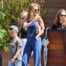 Rosie Huntington-Whiteley in Jeans at Soho House in Malibu