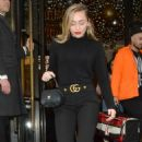 Miley Cyrus in Black Outfit – Out in London