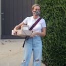Brie Larson – Pictured leaving a celebrity stylist's home in Los Angeles