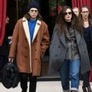 Keira Knightley and James Righton at the L' Reserve hotel in Paris - 454 x 572