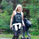 Malin Akerman – Walking her dog at Griffith Park in Los Angeles