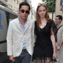 Lily Cole And Enrique Murciano - Christian Dior Paris Fashion Show F/W On July 5, 2010 - 313 x 600