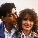 Jeff Goldblum and Geena Davis in Earth Girls Are Easy (1988)