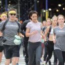 Katie Holmes johns Westin Hotels and Resorts to run in New York