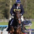 Zara Phillips riding CG Master Lux in the show jumping at the Hambledon Horse Trials, Oxfordshire