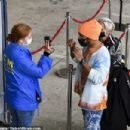 Lewis Hamilton wears kooky jumper and patterned jeans as he steps out at the Hungarian Grand Prix