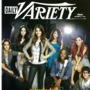 Matt Bennett, Leon Thomas III, Daniella Monet, Avan Jogia, Elizabeth Gillies, Ariana Grande, Victoria Justice, Victorious - Daily Variety Magazine Cover [United States] (21 October 2011)