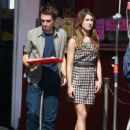 """Shenae Grimes Filming """"90210"""" At Pink's Hot Dog Stand"""